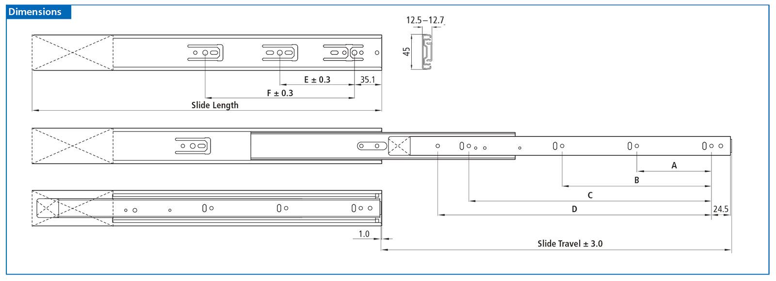 Us Futaba Soft Close Drawer Slides Full Extension 22 Nj35d65