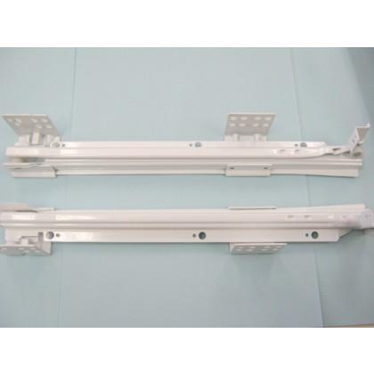 """FR702 White Frameless Drawer Slides - 18"""""""