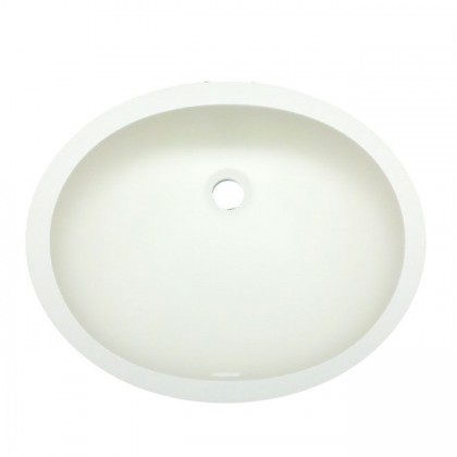 Oval Vanity Bowl Sink With Integral Overflow (Bisque)