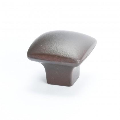 "American Revival Square Knob (Bronze W/Rust Glaze) - 1 1/4"""