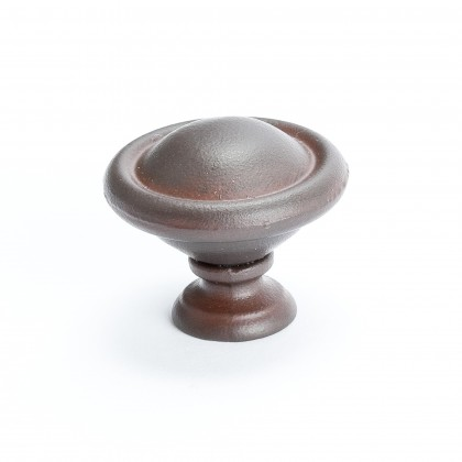 Domed Knob (Bronze W/Rust Glaze) - 1 3/16""