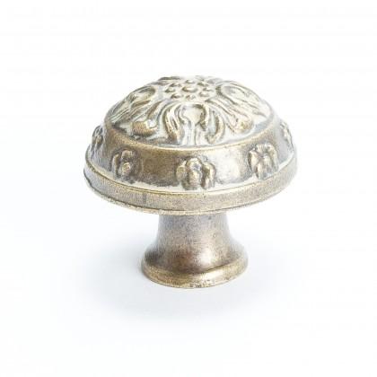 """Baroque Domed Knob (Antique Latte Glaze) - 1 1/4"""""""