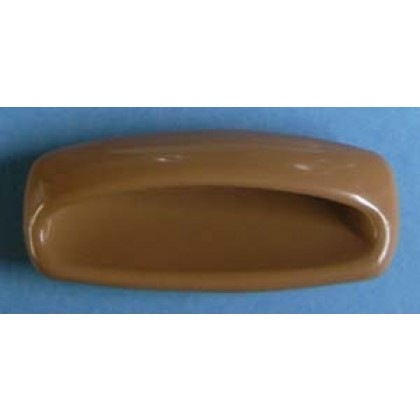 "Recessed Plastic Pull (Tan) - 3-5/8"" x 2-9/16"""