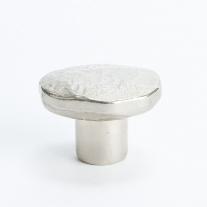 American Craftsman Distressed Knob (Matte Nickel) - 1 3/8""