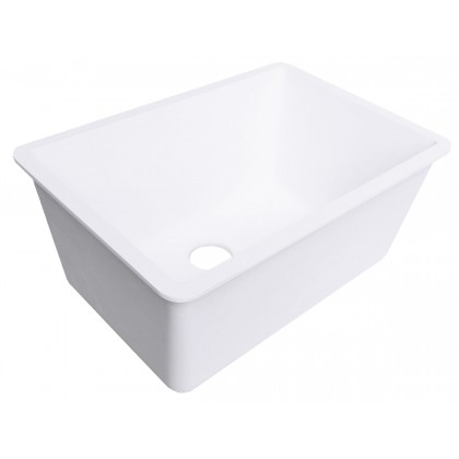 Deep Utility Kitchen Sink Winter White Gemstone Part 2416 Es Ww
