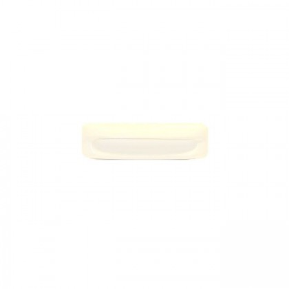 Plastic Recessed Pull (White) - 4 3/8""