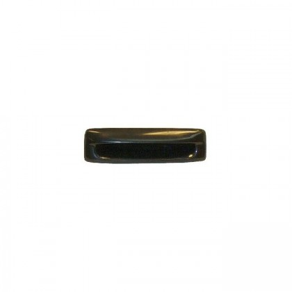 Plastic Recessed Pull (Black) - 4 3/8""