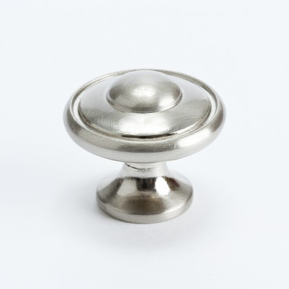 Euro Traditions Knob (Brushed Nickel) - 1 3/16""