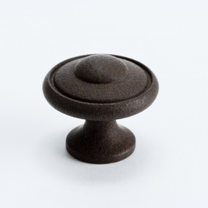 Euro Traditions Knob (Dull Rust) - 1 3/16""