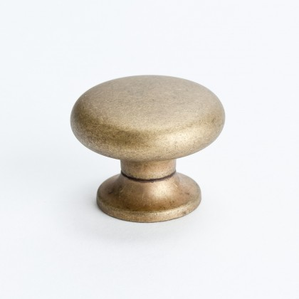 Euro Retro Knob (Dull Antique Brass) - 1 3/16""