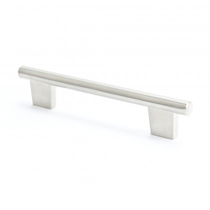 Euroline Round Bar Pull (Brushed Nickel) - 128mm
