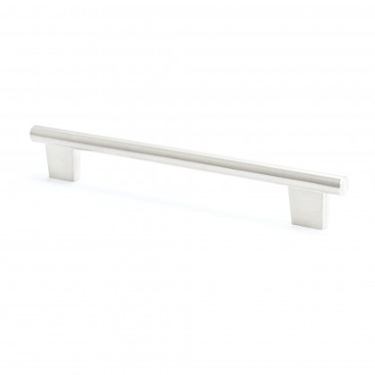 Euroline Round Bar Pull (Brushed Nickel) - 192mm