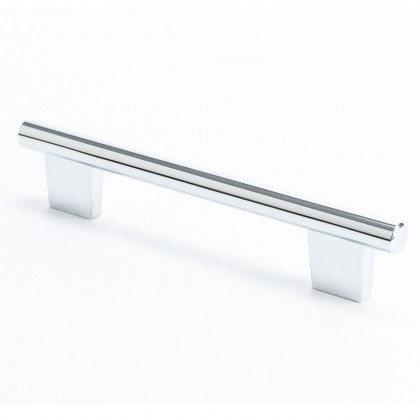 Euroline Round Bar Pull (Polished Chrome) - 128mm