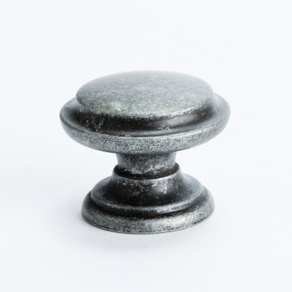 Euro Rustica Knob w/Ring (Rustic Iron) - 35mm