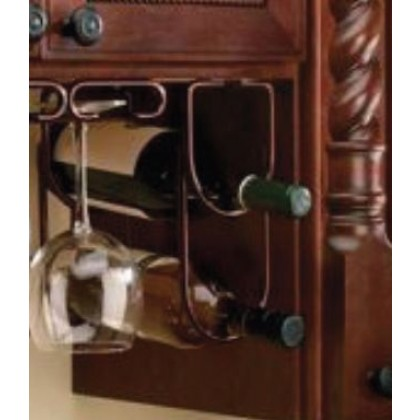 "4 1/4"" Double Wine Bottle Rack (Oil Rubbed Bronze)"