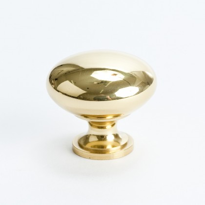 Canterbury Knob (Polished Brass) - 1 1/4""