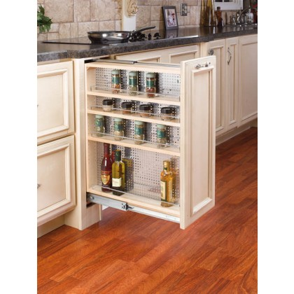 9 Quot Base Cabinet Filler Organizer W Ss Panel 433 Bf 9c
