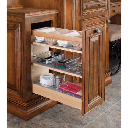 """8"""" Vanity Pull Out Organizer W/9 Poly Bins"""