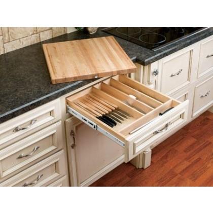 "20 1/2"" Wood Knife Holder/Cutting Board"