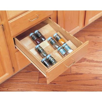 """22"""" Wood Spice Tray"""