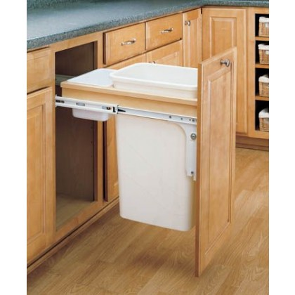 Top Mount Wood Pull-Out Waste Container