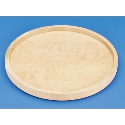 "18"" Full Circle Lazy Susan Shelf (Wood) - w/ Bearing"