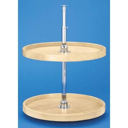 "18"" Full Circle Lazy Susan (Wood) - Two shelf set"