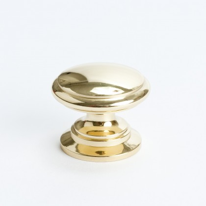 Plymouth Knob (Polished Brass) - 1 1/4""
