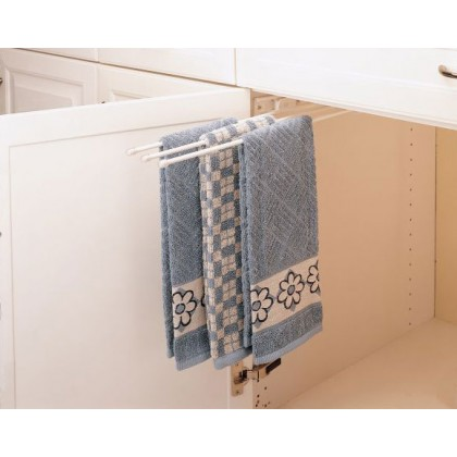 3 Prong Towel Bar (White)