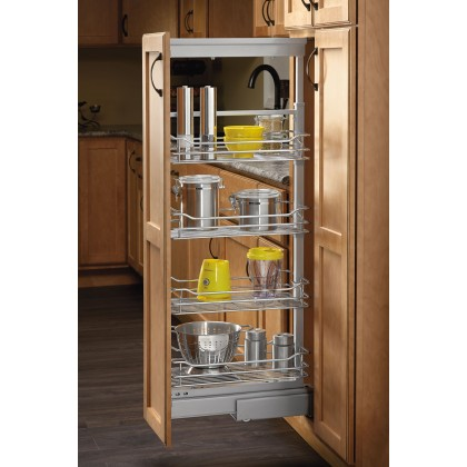 """4"""" Pull Out Pantry (Chrome)"""