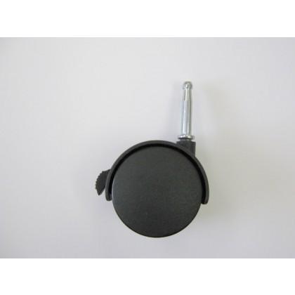 60mm Dia. Caster W/Hood & Stem Mount (Black)