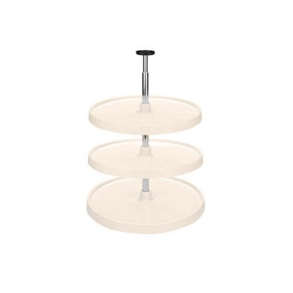 "20"" Full Circle Lazy Susan (Almond) - Three shelf set"