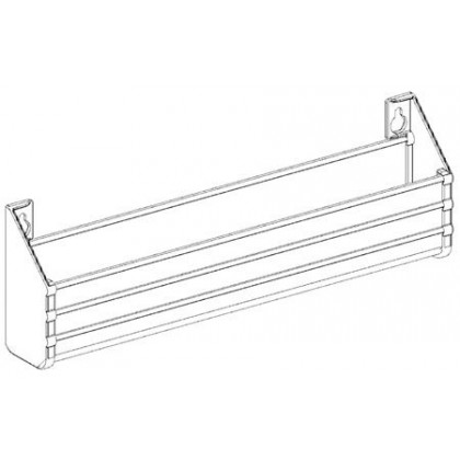 """Two 11"""" Trays with 2 Pair of Hinges (Almond)"""