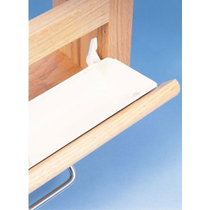 """11"""" Tray with Tab Stops (White)"""