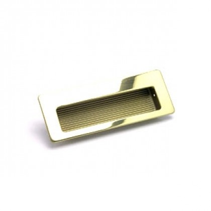 Zurich Recessed Pull (Polished Gold) - 4 1/2""