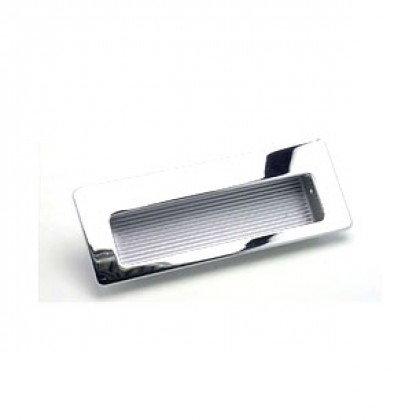 Zurich Recessed Pull (Polished Chrome) - 4 1/2""