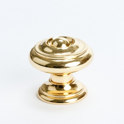 Barcelona Knob (Polished Gold) - 1 3/16""