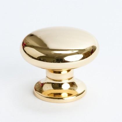 "Valencia Knob (Polished Gold) - 1 3/16"""