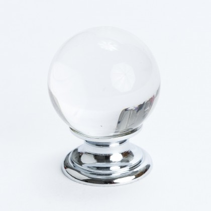 Europa Knob (Crystal W/Chrome Post) - 30mm