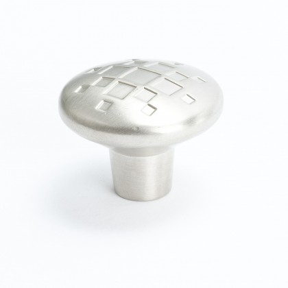Overture Lattice Knob (Brushed Nickel) - 34mm