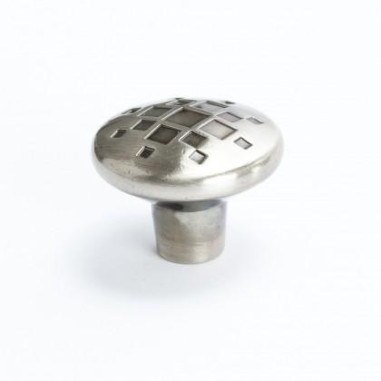 Overture Lattice Knob (Rustic Black Nickel) - 34mm