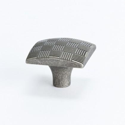 Virtuoso Square Knob (Rustic Tin) - 34mm