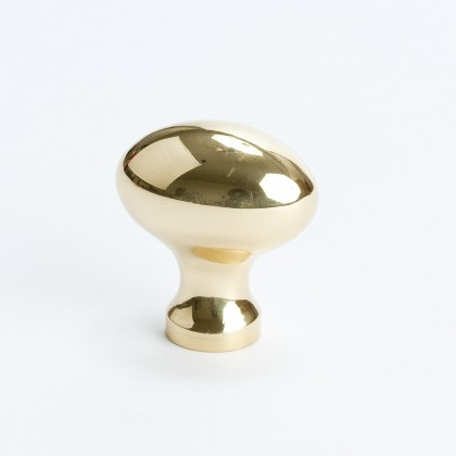 Plymouth Football Knob (Polished Brass) - 1 3/16""