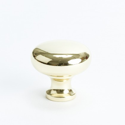 Salem Knob (Polished Brass) - 1 1/4""