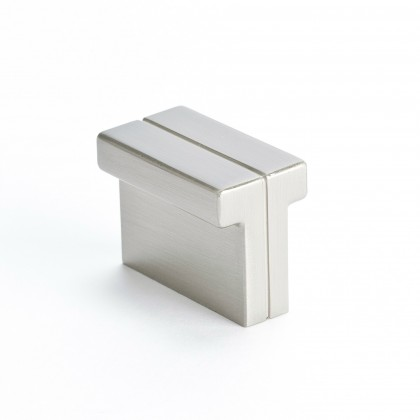 "Skyline Knob (Brushed Nickel) - 1-3/8"" x 3/4"""