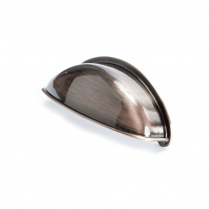 Euro Moderno Cup Pull (Brushed Antique Copper) - 64mm