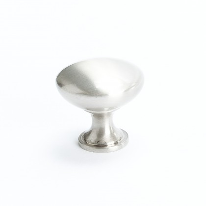 Euro Moderno Knob (Brushed Nickel) - 1 3/16""