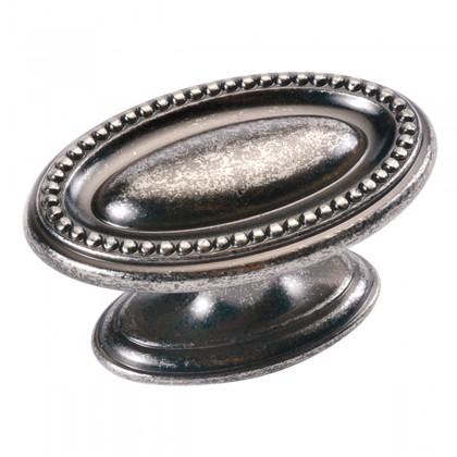"Altair Oval Knob (Black Nickel Vibed) - 1-3/4"""