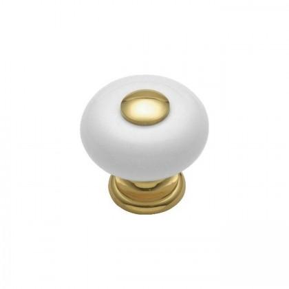"""Knob (Polished Brass) - 1"""""""