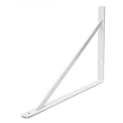 White Heavy Duty Shelf Bracket - (11.8 in. x 8.2 in.)